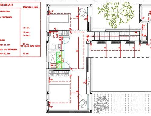 Proyecto de baja tensión en vivienda unifamiliar