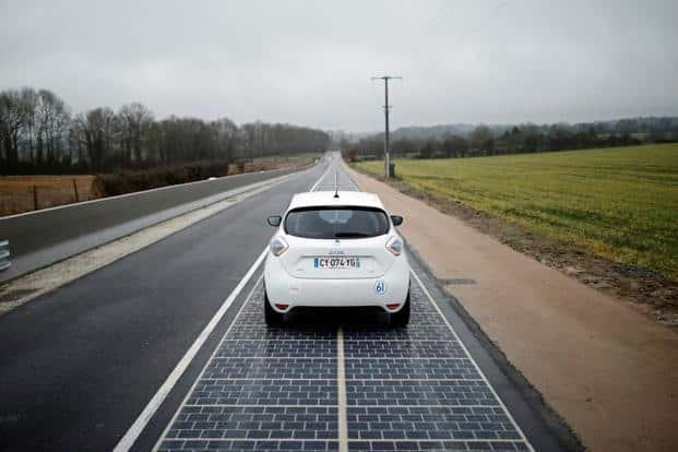 Carretera solar en Francia