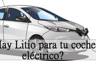 Coche eléctrico con batería de litio