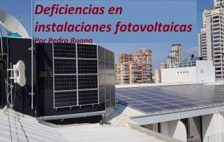Deficiencia en instalaciones fotovoltaicas