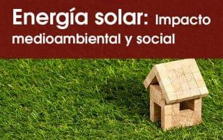 energía solar medioambiente