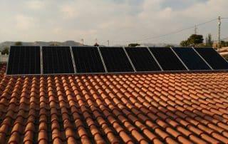 Instalación fotovoltaica en vivienda en Busot(Alicante)
