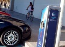 Punto de recarga de coches eléctricos.| J.D.
