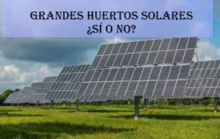 es conveniente grandes parques solares