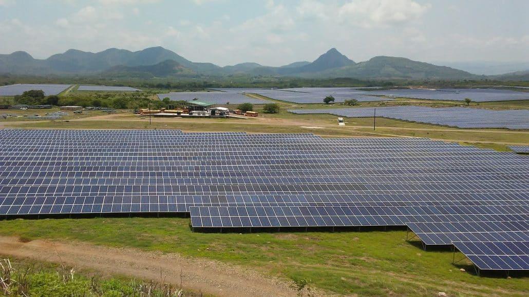 Parque solar grande