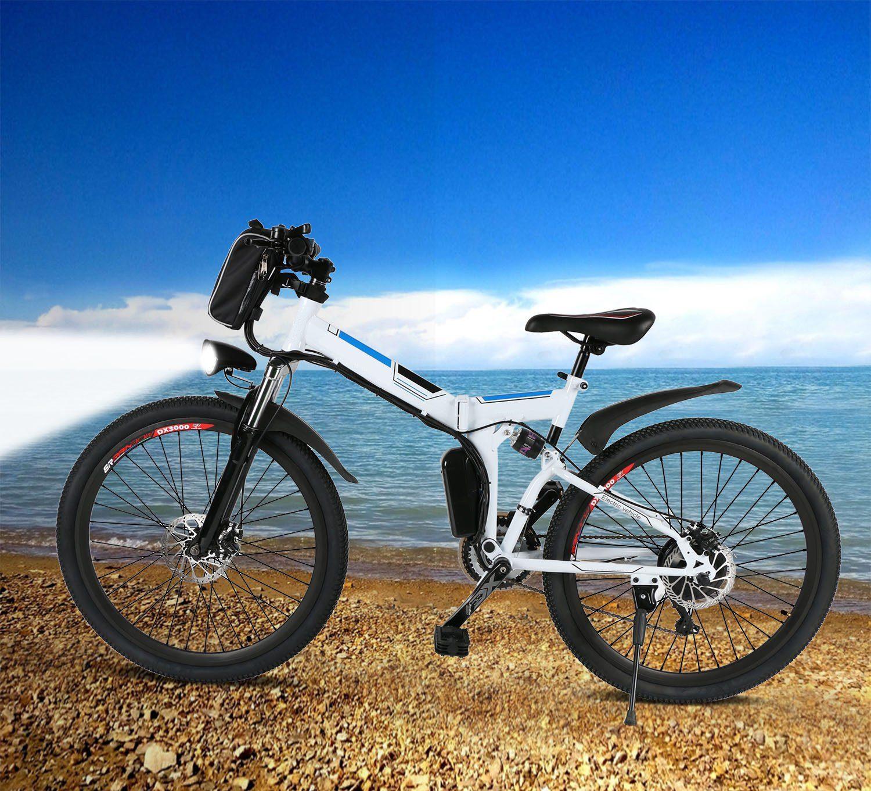 comprar baratas descuento especial de mejor baratas Bicicleta eléctrica de montaña plegable Bunao