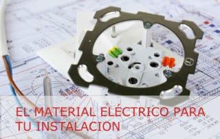 Material eléctrico en viviendas