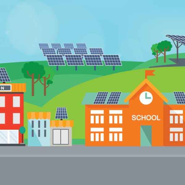 Comunidad solar de autoconsumo compartido