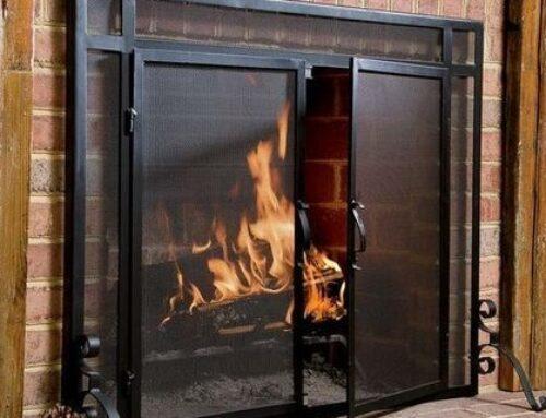 Ahorra energía en calefacción poniendo una puerta en tu chimenea